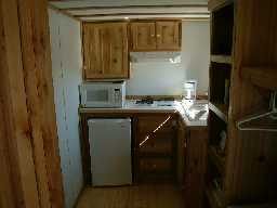 All cabins have a small kitchenette